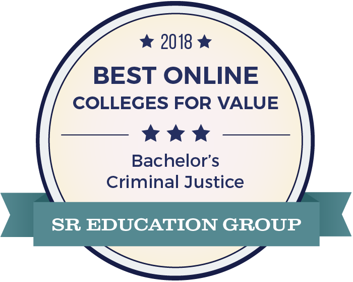 seal icon -  2018 Best Online Colleges Offering Bachelor's in Criminal Justice
