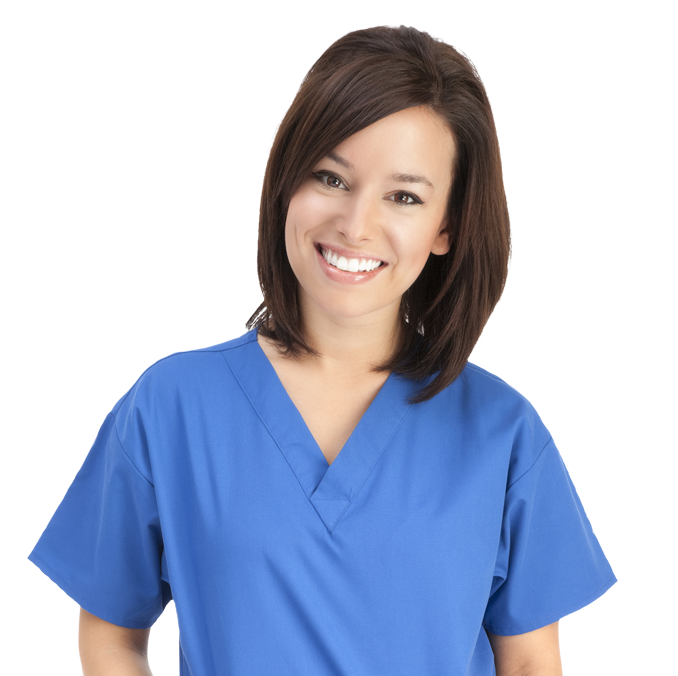 female nurse smiling