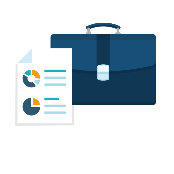 briefcase icon for business management degree georgia